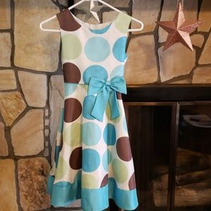 Cream and dots dress - Girls size 10